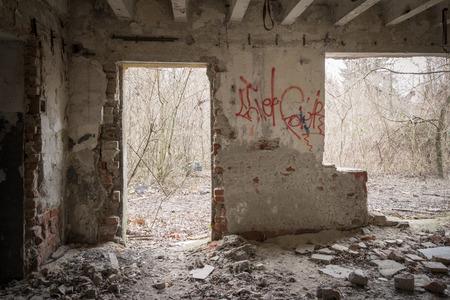 creepy house interior Standard-Bild