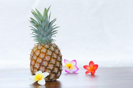 pineapple with flowers Standard-Bild