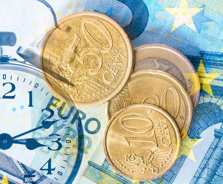 money and clock Standard-Bild