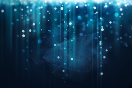 blue glowing sparkles abstract background Standard-Bild