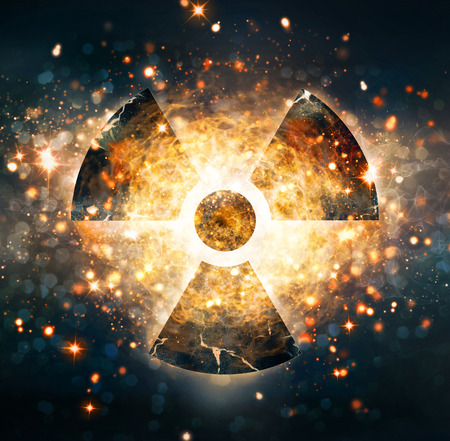 hazard: nuclear explosion Stock Photo