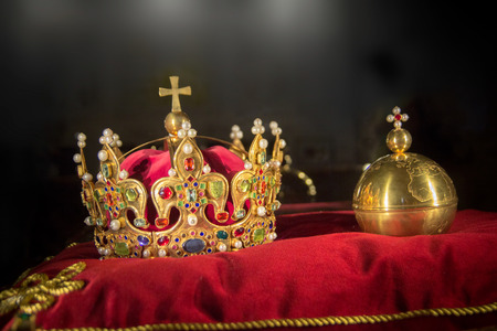 king crown jewels Standard-Bild