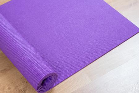 yoga mat on floor