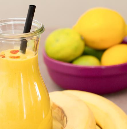 Bananen Fruit Smoothie Stockfoto