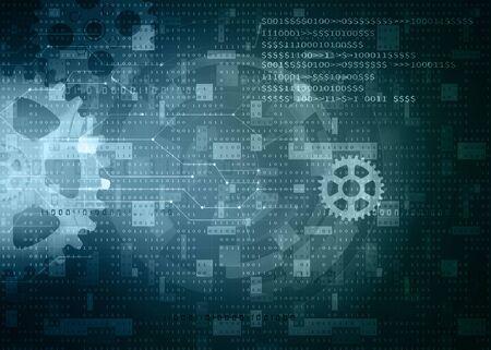 computer data background