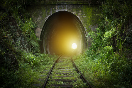 light at the end of tunnel Standard-Bild