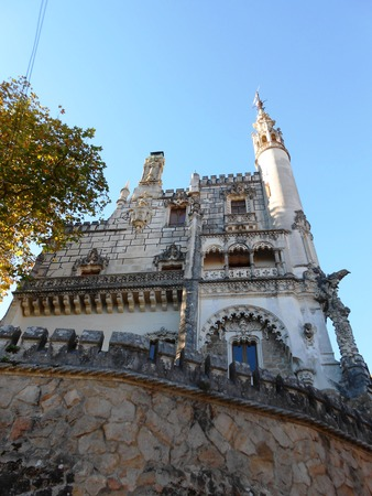 quinta: Sintra, Portugal - November 24, 2013: The Regaleira Palace (Quinta da Regaleira), part of UNESCOs World Heritage list was built in Romantic and Gothic style at the beginning of the 20th century. It is one of the principal tourist attractions of Sintra.