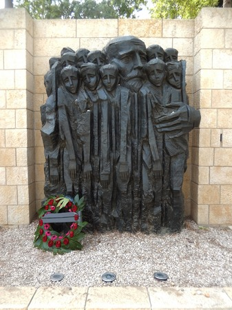 Monument to Janusz Korczak and the children in Yad Vashem, Holocaust Memorial Center in Jerusalem, Israel. Editorial