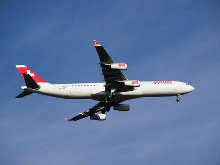 aeroplane fly on the blu sky