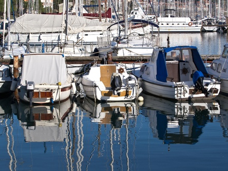 boats in port waiting for a good weather photo