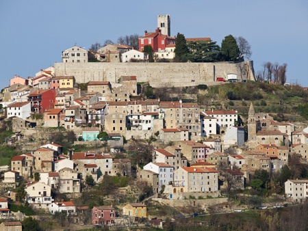 norman castle: small old town Motovun in central Istria