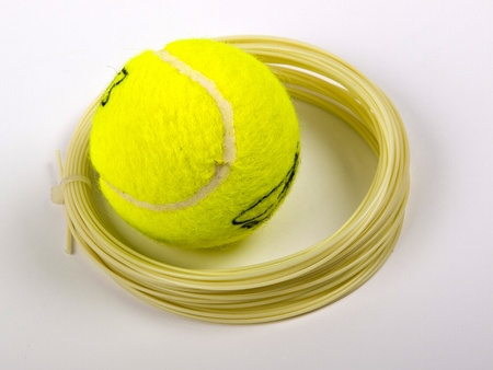ball and string for tennis racket Stock Photo - 11930453