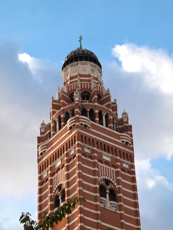 London cathedral with red bricks photo