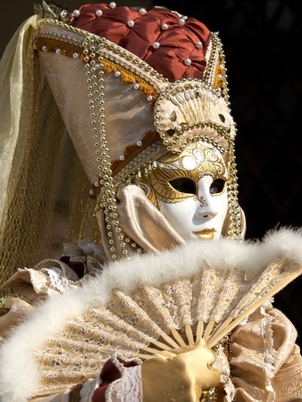 mask on the piaca st Marco in Venice photo