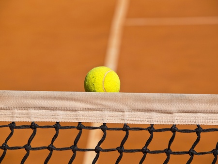 tennis ball stack in the net Stock Photo - 12788004
