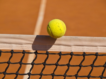 tennis ball and tennis court Stock Photo - 13202842