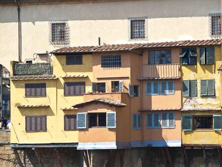 vechio:  houses onPonte Vechio bridge in Florence