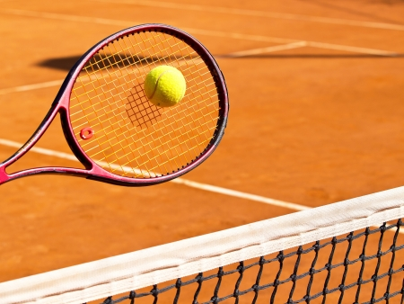 tennis racket and the ball photo