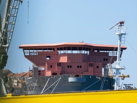 shiprepair: boat in the shipyard