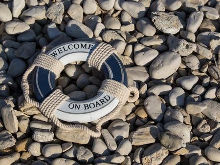 safe belt on the stone beach Stock Photo - 15414056