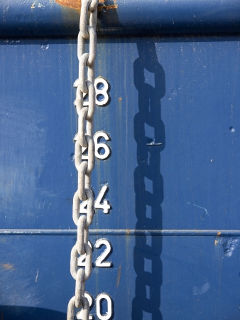 white chain on the anchored ship photo