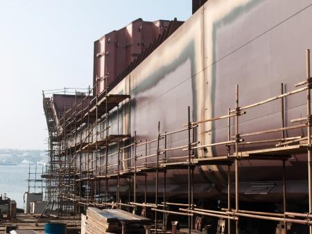 new ship in the shipyard