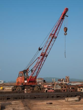 old crane on the vehicle Stock Photo - 16033005