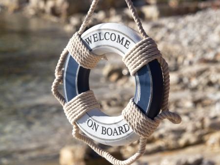 safe belt on the stone beach Stock Photo - 16698713
