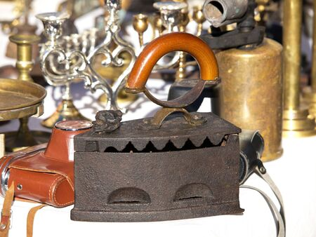 old antique iron selling on the open market Stock Photo - 17070001