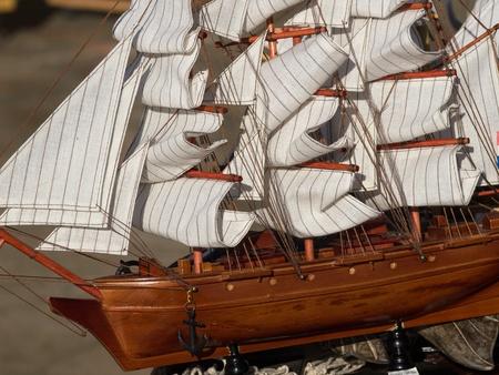 handmade model of a sailing ship Stock Photo - 17225410