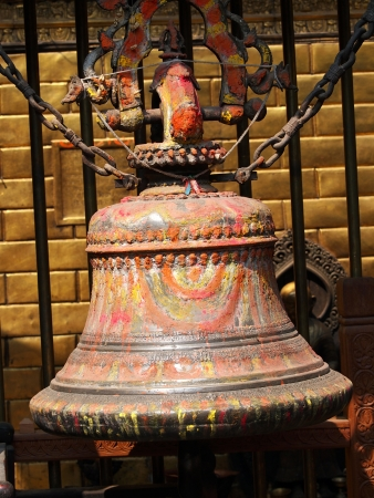 prayer bell in golden temple,pathan Nepal         photo