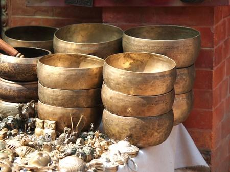 Klankschalen Cup van het leven - populair massaproduct souvenier in Nepal, Tibet en India