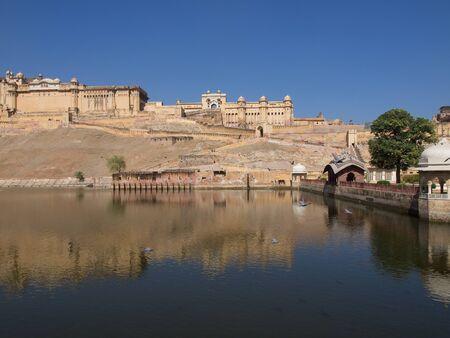 rajput:  Beautiful Amber Fort near Jaipur city in Rajastan,India