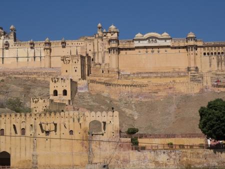Beautiful Amber Fort near Jaipur city in Rajastan,India photo