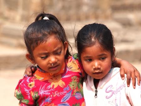 kids on the street of Kathmandu,Nepal        photo