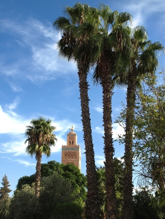 Koutoubia Mosque - the biggest mosque in Marrakech, Morocco, Africa photo