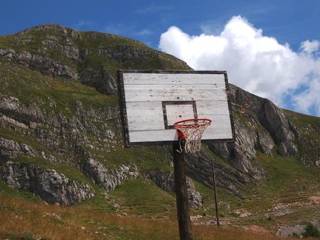 adams: basketball hoop in the high mountains