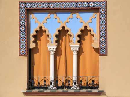Old windows in Arabian style at Cordoba Spain - architecture background Standard-Bild