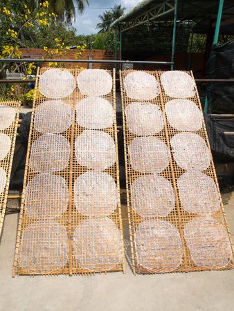 mekong: rice paper in mekong delta;vietnam
