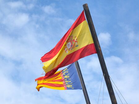 autonomic: Flags of Spain and Valencia