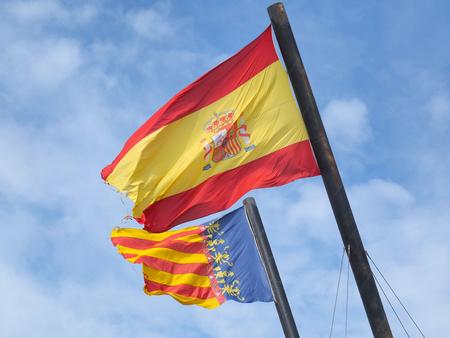 autonomic: Flags of Spain and Valencia