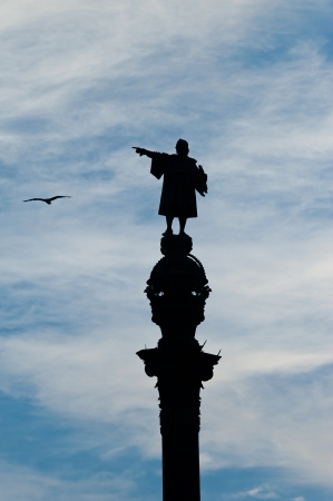 Christopher Columbus shows a seagull photo