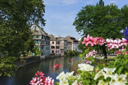 timbering: Old half timbered houses in Petite France, Strasbourg