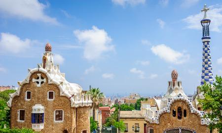 Gingerbread House of Gaudi Stock Photo