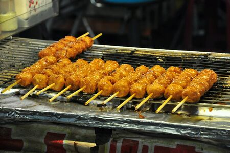 night market: Delicious food found at night market Stock Photo