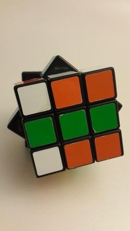 rubik: Isolated Rubik cube shot in white background Stock Photo