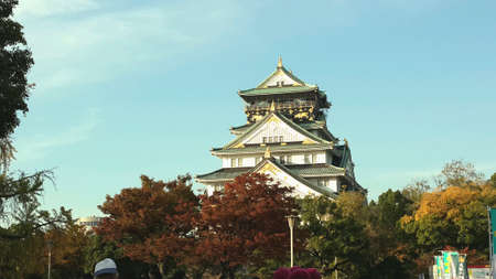 osaka castle: Osaka Castle in sunny day