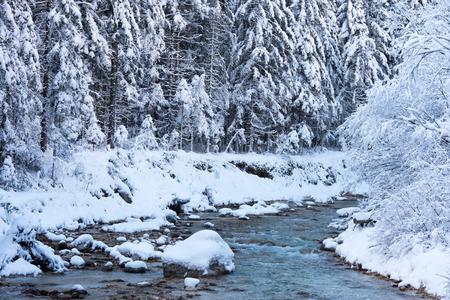 icefall: Scenic frozen waterfall Pericnik in Julian alps, Slovenia