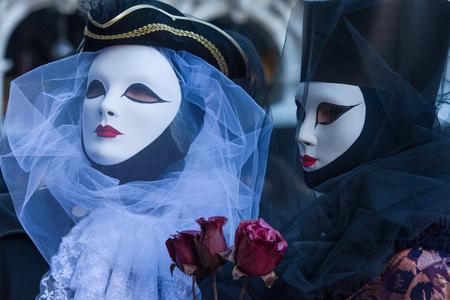 Traditionelle venezianische Karnevalsmaske aus Venedig, Italien