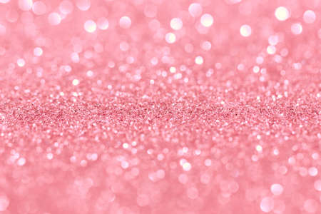 Abstract rose gold background with bokeh effect. Blurred glitter. Reklamní fotografie